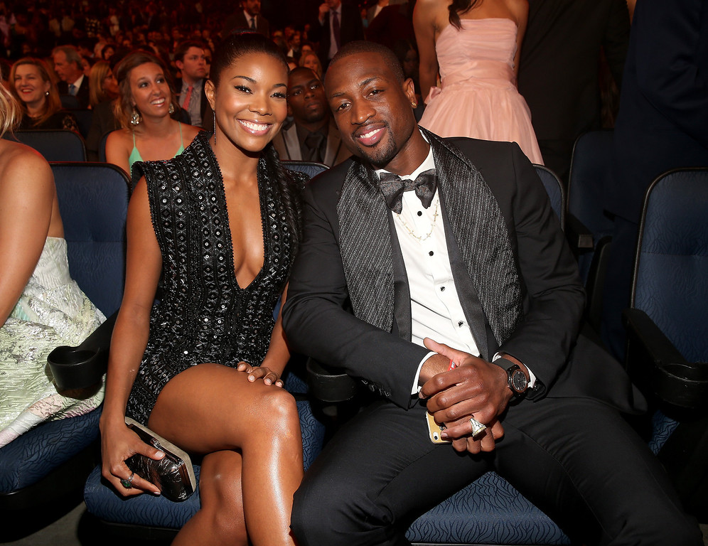 . Actress Gabrielle Union (L) and NBA player Dwayne Wade attend The 2013 ESPY Awards at Nokia Theatre L.A. Live on July 17, 2013 in Los Angeles, California.  (Photo by Christopher Polk/Getty Images for ESPY)