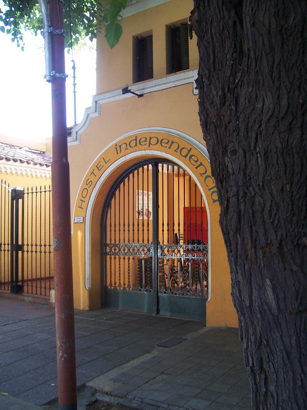 The secure entrance to my hostel in Mendoza.