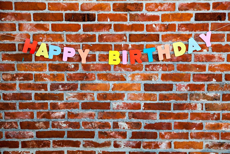 Congratulation Happy Birthday by individual letters