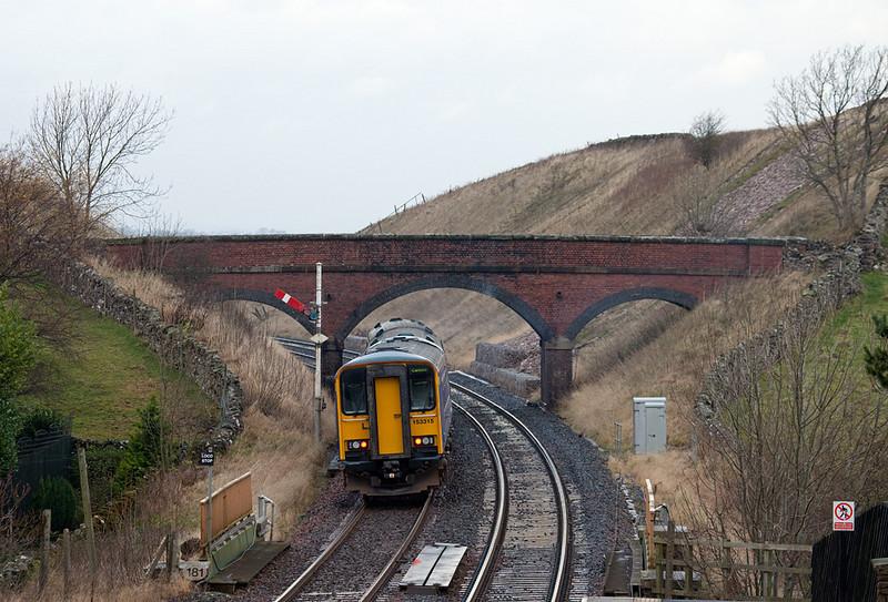 153 315 leaving Kirkby Stephen.