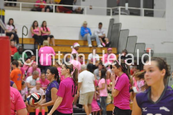 Burlington at Clinton volleyball (10-1-13)