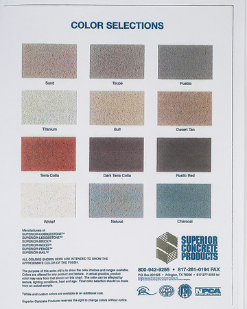 Superior Color Chart Project