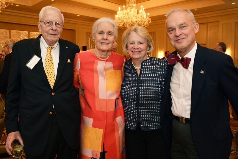 Trustee Emeritus William Crozier, Jr., with his wife, Prudence Crozier, of Wellesley, Mass.; Vice Chairman Nancy Maulsby of Greenwich, Conn.; and Richard G. Schulze, Chairman of Old Sturbridge Village.