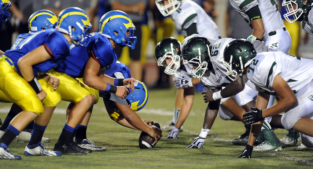 . San Dimas vs. Bonita in the first half of a prep football game at Citrus College on Thursday, Aug. 29, 2013 in Glendora, Calif.   (Keith Birmingham/Pasadena Star-News)