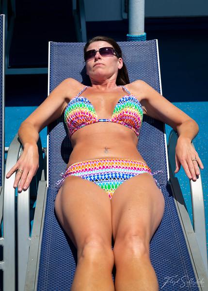 Jodi Sunbathing