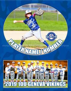 2019 10U Rader Geneva Baseball Player Team Print