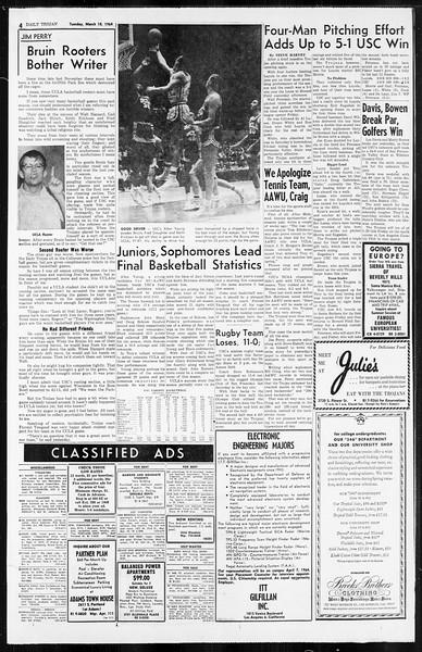 Daily Trojan, Vol. 55, No. 79, March 10, 1964