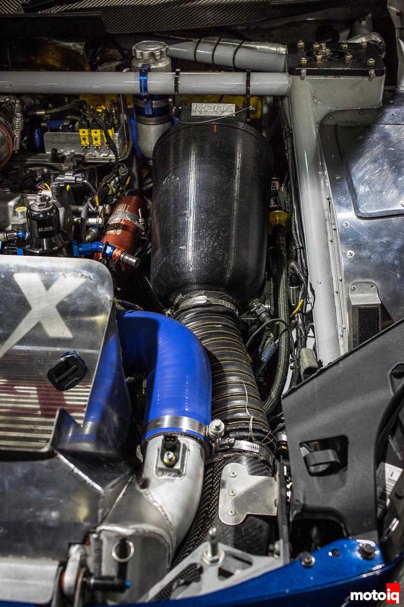 Nerd's Eye View: K-PAX Racing Volvo S60 engine bay air oil filter