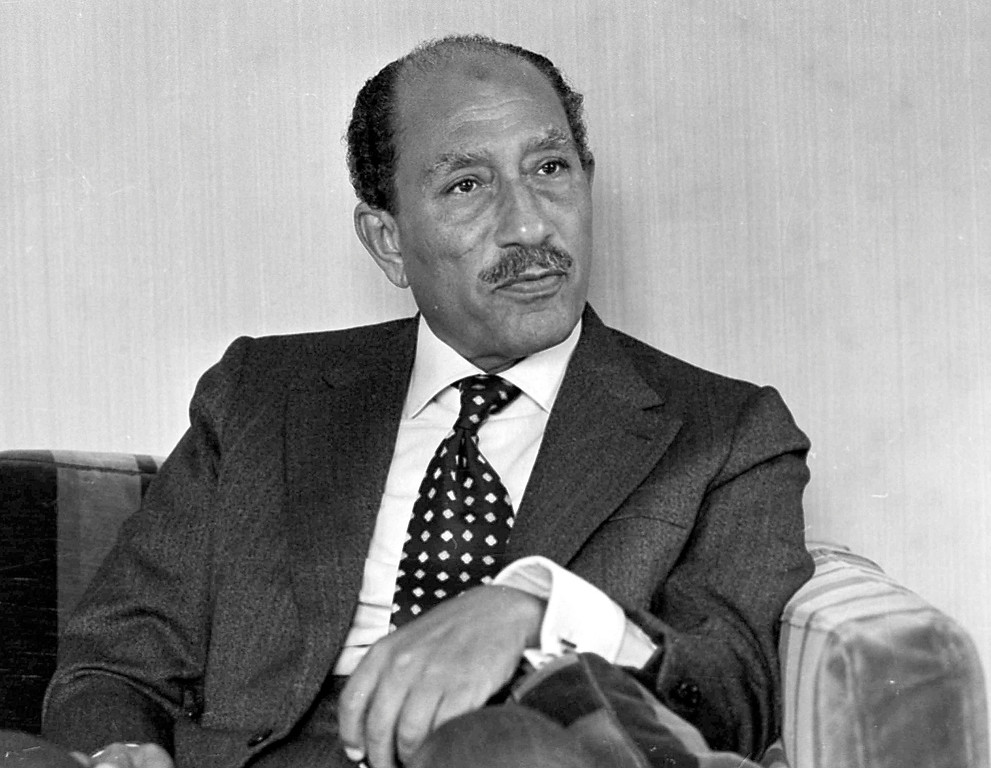 . 1977: Anwar Sadat. Egyptian President Anwar Sadat is seen during an interview with the Associated Press in Egypt, Dec. 4, 1977. (AP Photo)