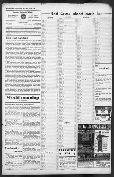 The Trojan, Vol. 35, No. 156, August 28, 1944