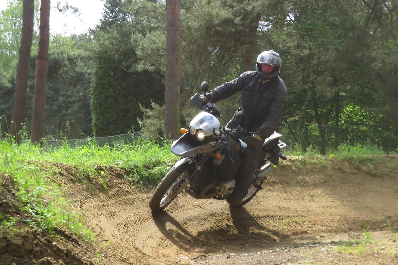 Motokhana training bij Bert