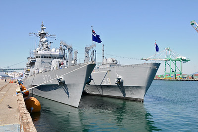 Open day at Korean Frigates in San Pedro July 2010