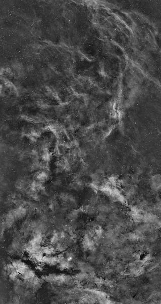 2 Panel Mosaic of Gamma Cygni Region