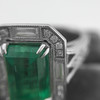 2.57ct Colombian Emerald Halo Ring, AGL-certified 19