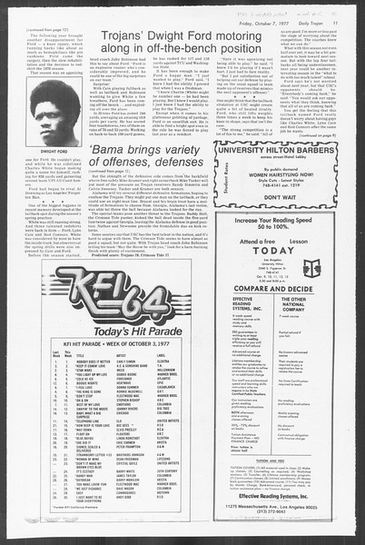 Daily Trojan, Vol. 72, No. 15, October 07, 1977