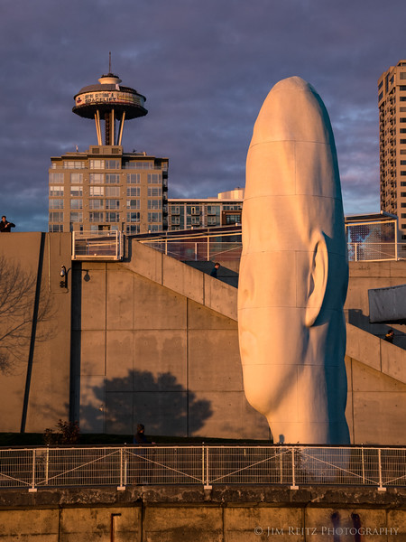 """Echo"" by Jaume Plensa, Seattle Olympic Sculpture Park."