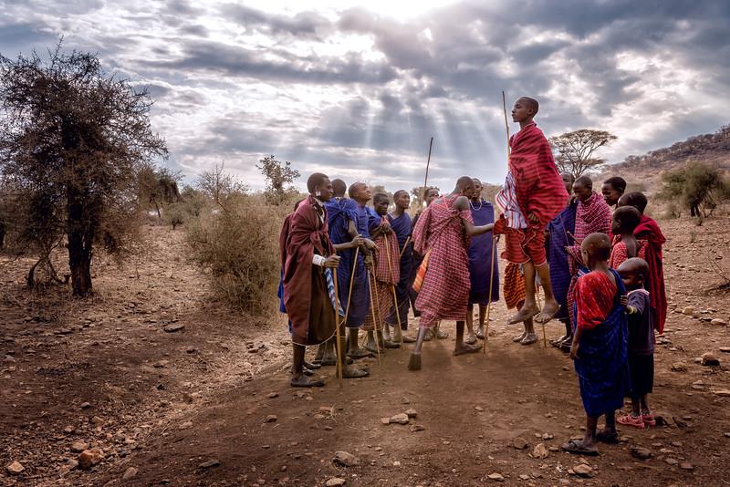 Maasai Men Dancing in Tanzania