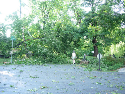 Storm damage, Aug. 2011