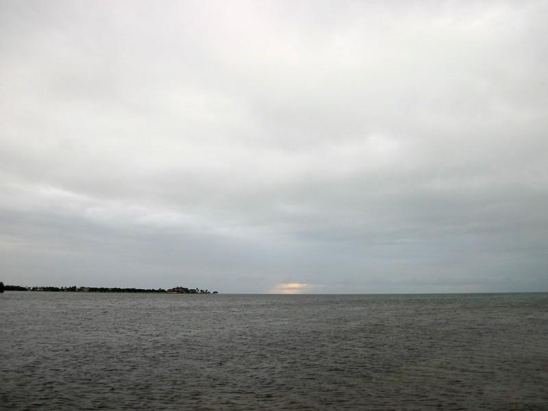 overcast sunset
