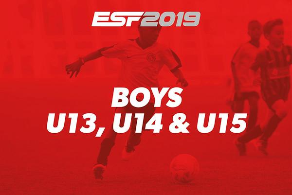 BOYS U13, U14 & U15