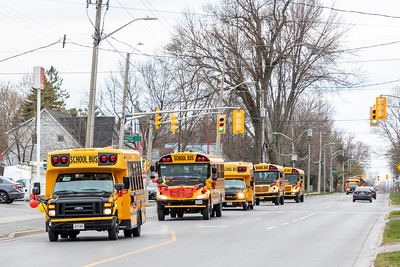 Parade of school buses 2020 April 29