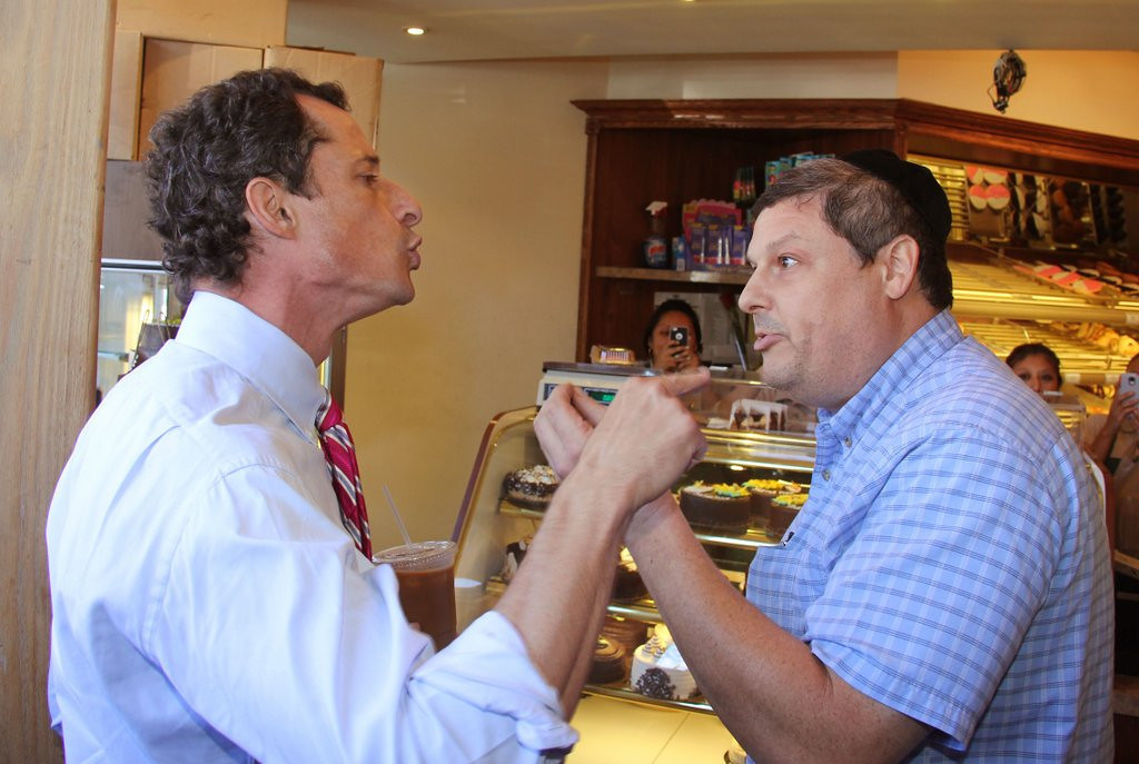 ". <p>9. ANTHONY WEINER  <p>Only God can judge him, because only God knows how many times he photographed his free willy. (9) <p><b><a href=\'http://www.nydailynews.com/news/election/weiner-explodes-feisty-mayoral-candidate-anthony-weiner-nasty-brooklyn-campaign-stop-article-1.1445762\' target=""_blank\""> HUH?</a></b> <p>    (AP Photo/Shimon Gifter)"