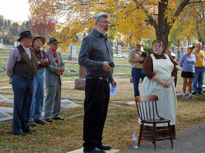 Writer Paul Higbee, who focuses many of his endeavors on area history, is a key member of the crew that produced the Rose Hill Cemetery Walk.  His excellent writings are included regularly in South Dakota magazine.