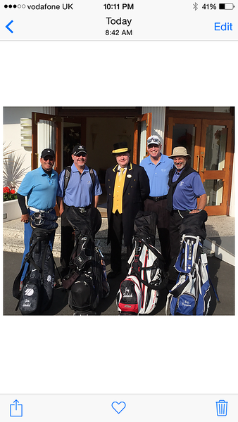 Golf Trip England complete the Royals 2015
