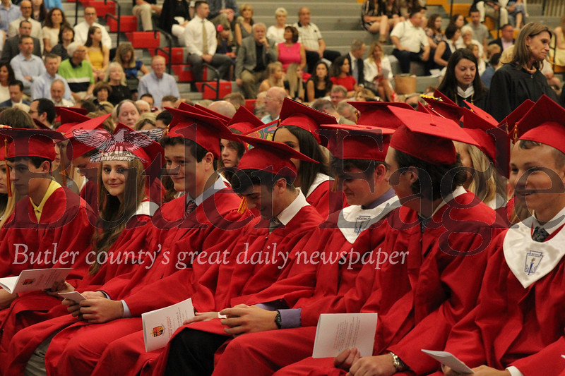 North Catholic graduates attend pre-graduation mass. Seb Foltz/Butler Eagle