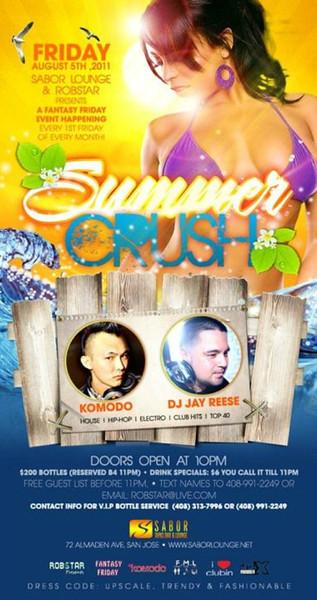 Summer Crush @ Sabor Tapas Bar & Lounge 8.5.11