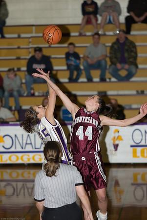 Onalaska High School vs. Montesano High School, ladies varsity, February 4, 2008