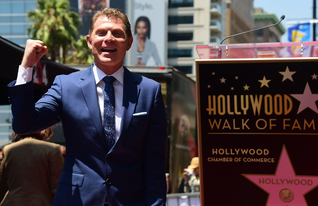. Chef Bobby Flay as his star is unveiled on the Hollywood Walk of Fame on June 2, 2015, in Hollywood, California. Flay is the first television chef to be accorded the honor.         (FREDERIC J. BROWN/AFP/Getty Images)