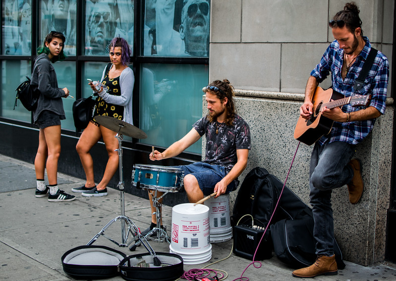 Guitar and drums on Sixth Avenue