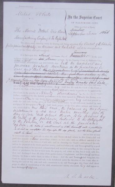 Baltimore City Superior Court Decree MPFMC Jan 2, 1867 (2).JPG
