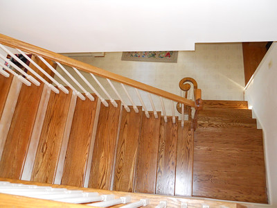Stairs dry w/ 3 coats