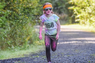 Colour Run Coed y Brenin 1kM Fun Run - Finish