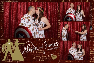 James & Alison's Wedding (Mini Open Air Photo Booth 2)