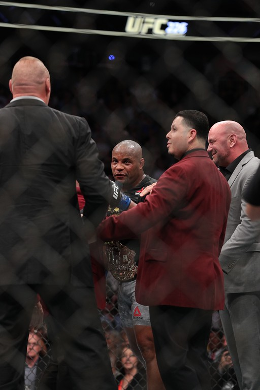 . Tim Phillis - The News-Herald UFC 226 on July 7, 2018, in Las Vegas. Daniel Cormier