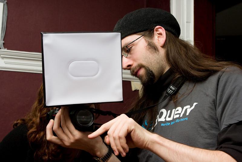 Steve explaining the softbox