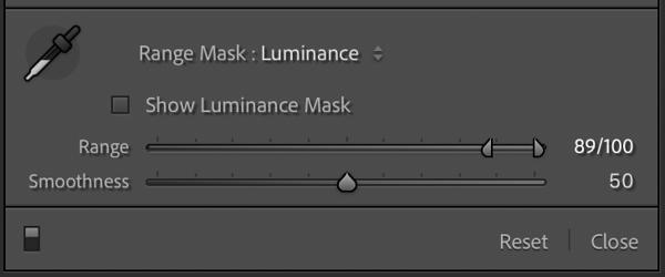 Luminance Mask Settings