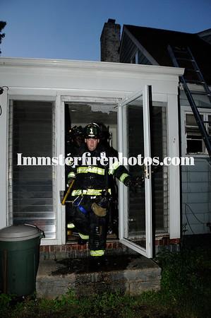 WESTBURY FD house fire