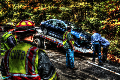 Single Car MVA, Bear Mountain Bridge Rd. 10-11-14