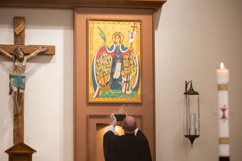 New artwork and blessing at Crosier Village on Sunday, February 2, 2020 in Phoenix, Arizona.