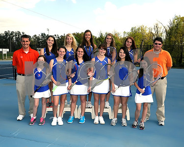 Marshall County Girls 2012 Tennis Team, March 26, 2012, Coaches Ryan Marchetti & Todd Anderson.