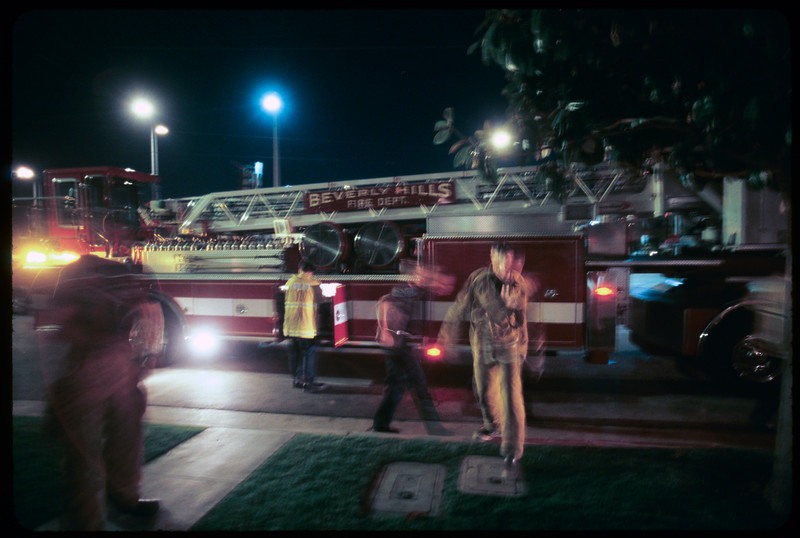 Firemen in action, Beverly Hills, 2004