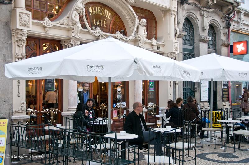 Sat 3/19 in Porto: The Majestic Cafe on Santa Catarina St