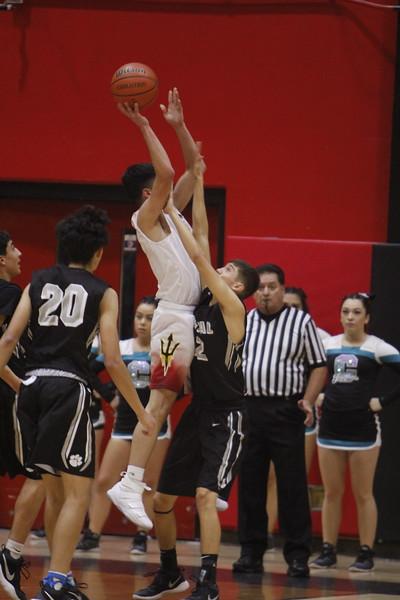 The second quarter of the Española Valley High School vs Capital High School boys basketball game at Española on Tuesday, January 23, 2018. Luis Sánchez Saturno/The New Mexican