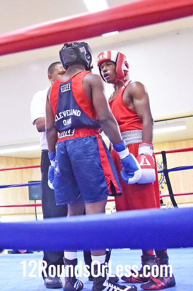 Bout 5 Martrell Adams, Blue Gloves, Unattached, Cleveland -vs- Sequan Felton, Red Gloves, St. Martin BC, Rochester, NY, 141 lbs