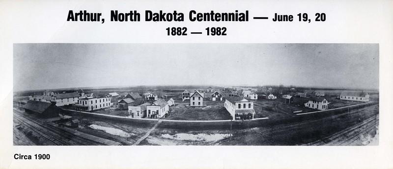 AR010.  Arthur Centennial postcard – Jun 1982 - photo ca 190.jpg
