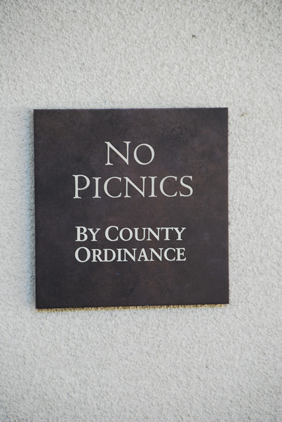 Apparently, it's a crime in Napa County to have a picnic.